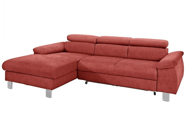 Trendmanufaktur Ecksofa Komaris links - Rot