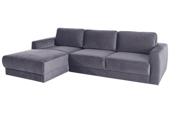 Sofa L-Form Hobro links - Grau