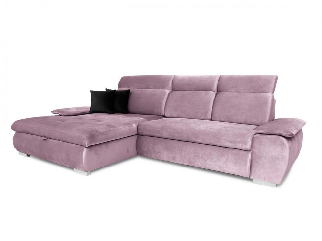 Eckcouch Tiffi links - mit Schlaffunktion - Pink