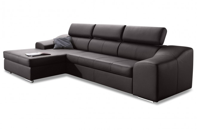 leder ecksofa mit schlaffunktion braun sofas zum halben preis. Black Bedroom Furniture Sets. Home Design Ideas