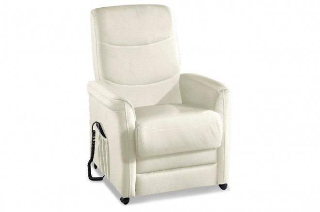 Sit&More Leder Fernsehsessel TV-Rooney - mit Relax - Weiss