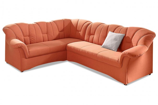Ecksofa XL Papenburg-M links - Orange