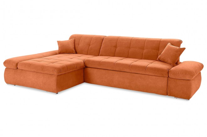 Ecksofa Moric Kis links - mit Schlaffunktion - Orange