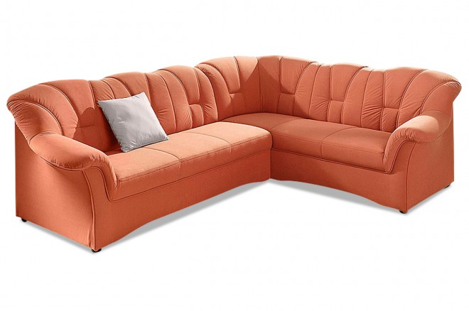 Ecksofa XL Papenburg-M - Orange