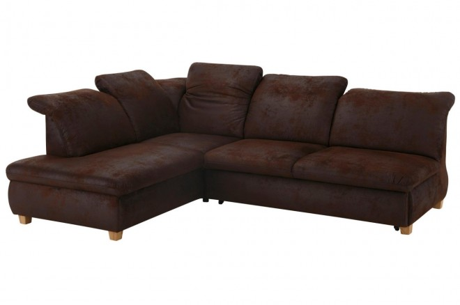 Ecksofa XL Benito links - Braun