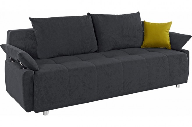 Collection AB Schlafsofa Funtastic - mit Schlaffunktion - Anthrazit mit Federkern