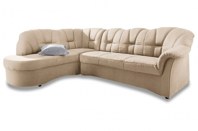 Ecksofa XL Papenburg-O links - Creme