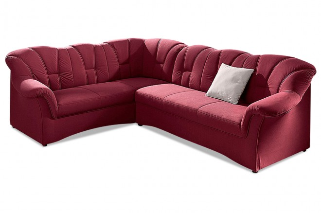 Ecksofa XL Papenburg-M links - Rot