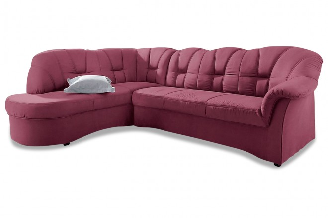 Ecksofa XL Papenburg-O links - Rot