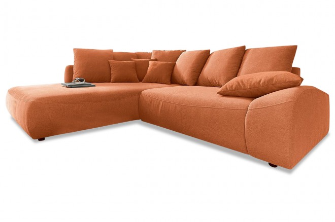 Nova via ecksofa xl daytona mit schlaffunktion braun for Ecksofa terracotta