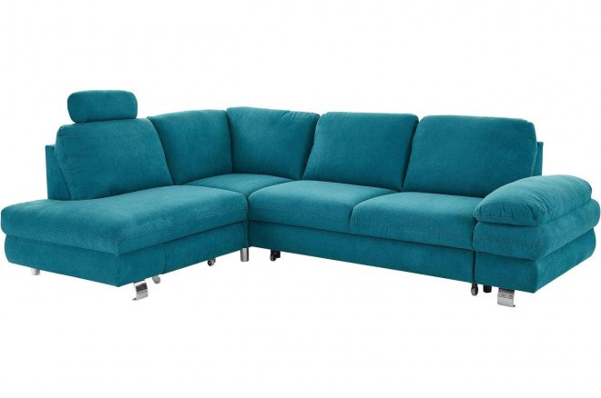 Furntrade Ecksofa Manhattan links - Blau