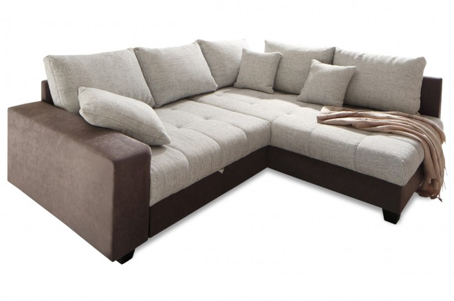 Nova Via Ecksofa XL Greenwich - Braun