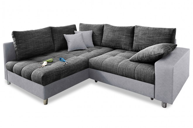 Ecksofa XL Tobi links - Anthrazit