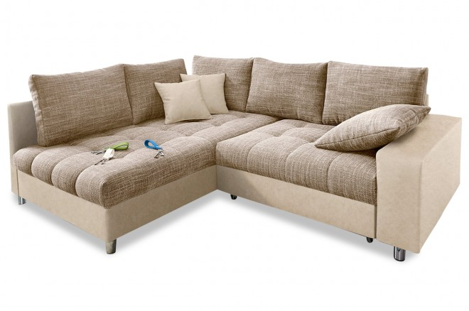 Ecksofa XL Tobi links - Braun