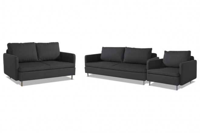 garnitur 3 2 1 anthrazit sofas zum halben preis. Black Bedroom Furniture Sets. Home Design Ideas