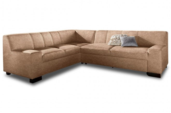 Ecksofa XL Norma links - Cappuccino
