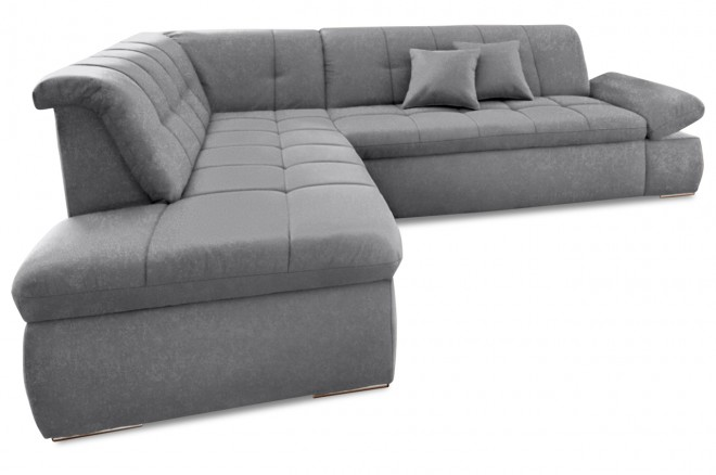 Ecksofa XL Moric Kis links - Grau