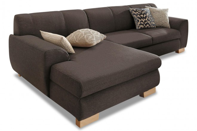 Ecksofa Nika links - Braun