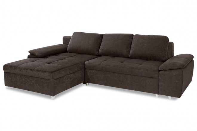 Ecksofa  links - Braun