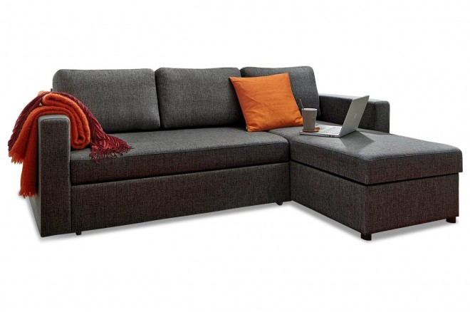 Atlantic Collection Ecksofa Seven - mit Schlaffunktion - Anthrazit