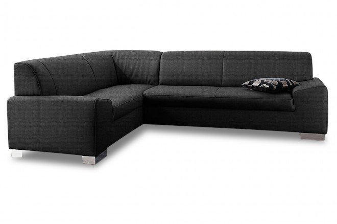 Ecksofa XL Alisson links - Anthrazit