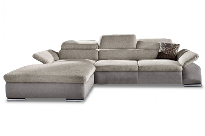 Ecksofa  links - Creme