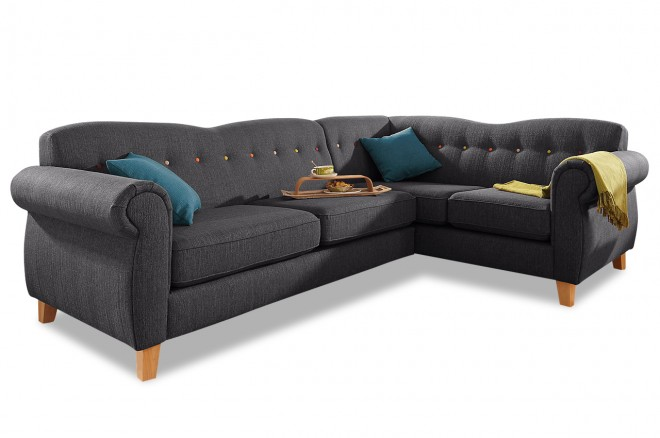 Stolmar Ecksofa XL Collage - Grau