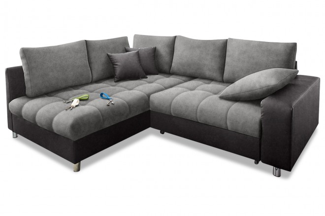 Ecksofa XL Tobi links - Grau