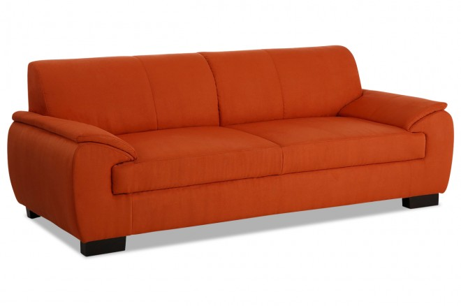 3er-Sofa Loft - Orange mit Boxspring