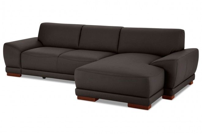 leder ecksofa manila braun mit federkern sofas zum halben preis. Black Bedroom Furniture Sets. Home Design Ideas
