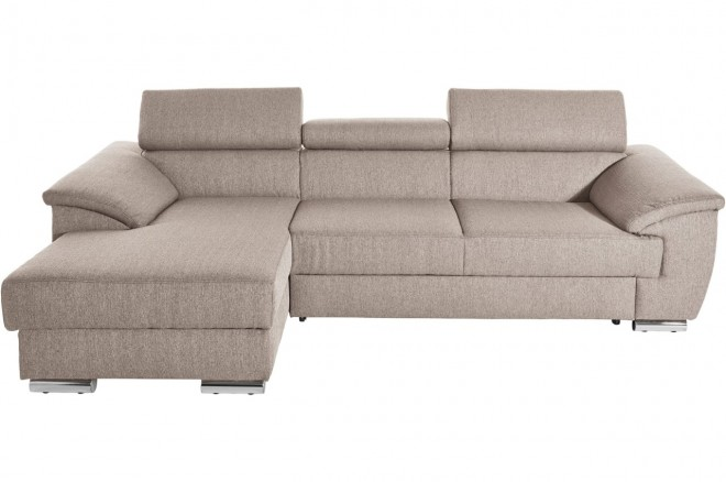 Ecksofa David links - Beige