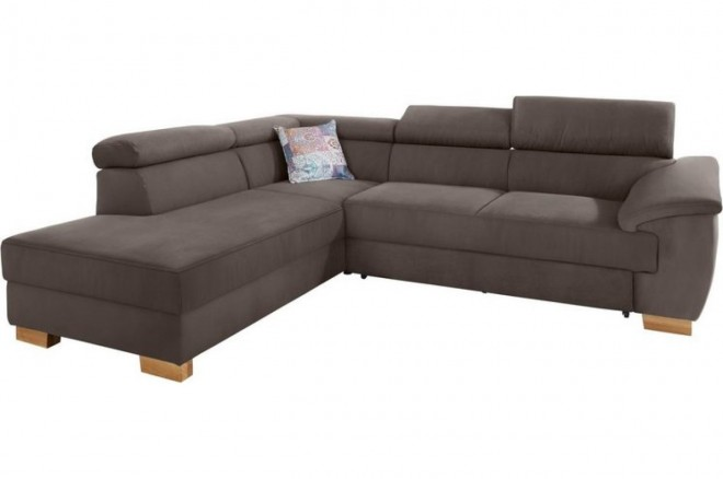 Ecksofa XL David links - Taupe
