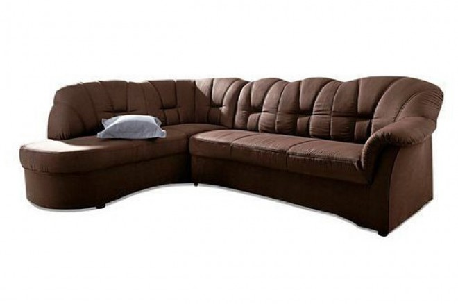 Ecksofa XL Papenburg-O links - Braun