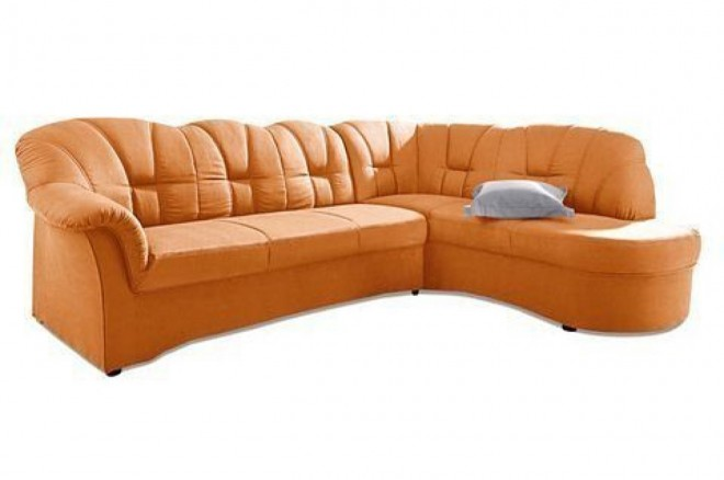 Ecksofa XL Papenburg-O rechts - Orange