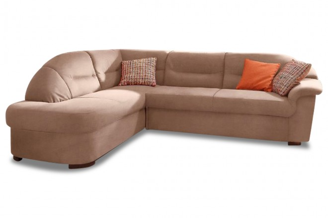 Ecksofa XL Malta links - Braun