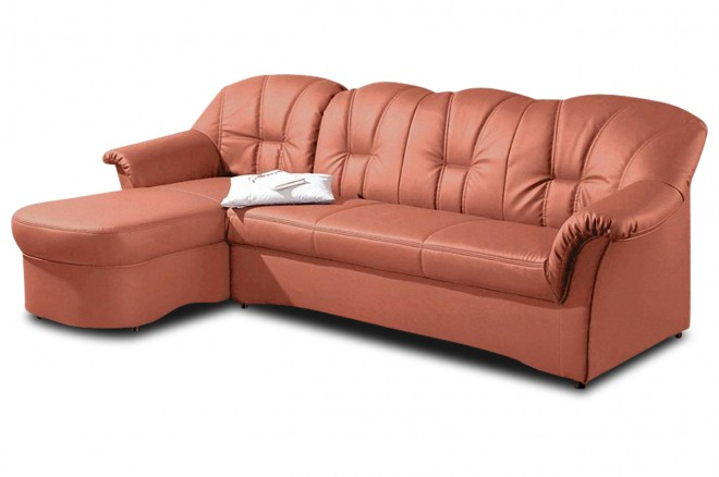 Ecksofa Papenburg-M links - Terrakotta