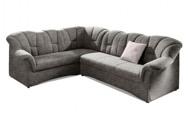 Ecksofa XL Papenburg-M links - Grau