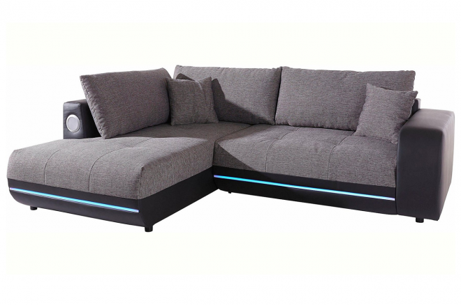 Castello Ecksofa XL Music Sofa links - mit Sound - Grau