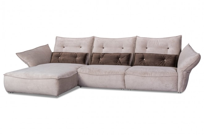 Nova Via Ecksofa Royal - Braun