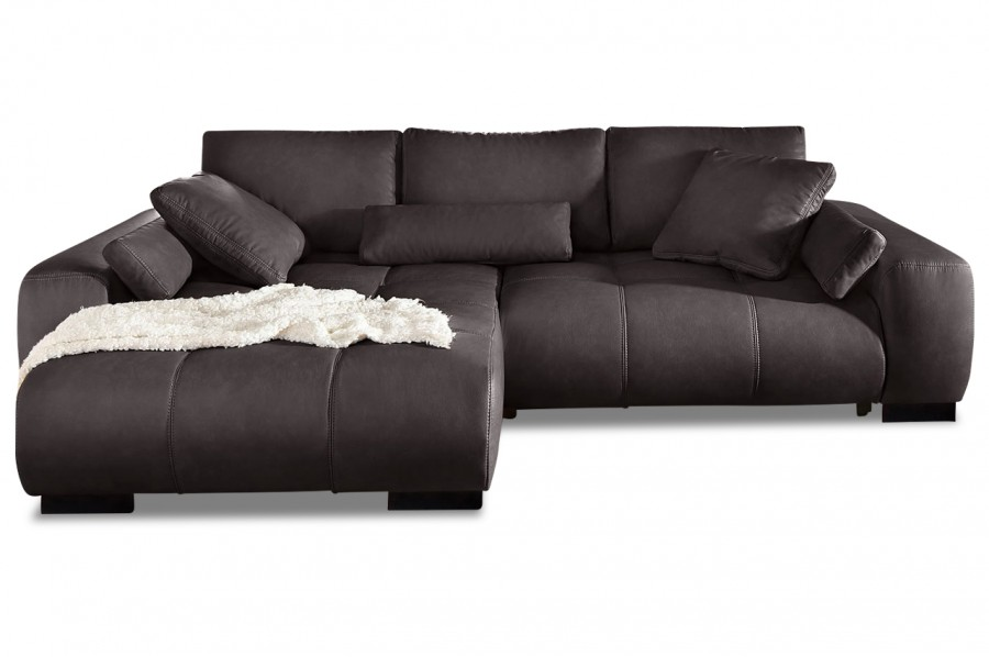 ecksofa davis links braun mit boxspring sofas zum. Black Bedroom Furniture Sets. Home Design Ideas