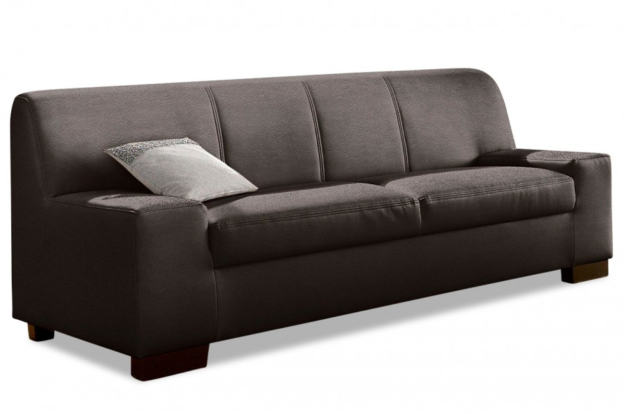 leder 3er sofa norma braun sofas zum halben preis. Black Bedroom Furniture Sets. Home Design Ideas