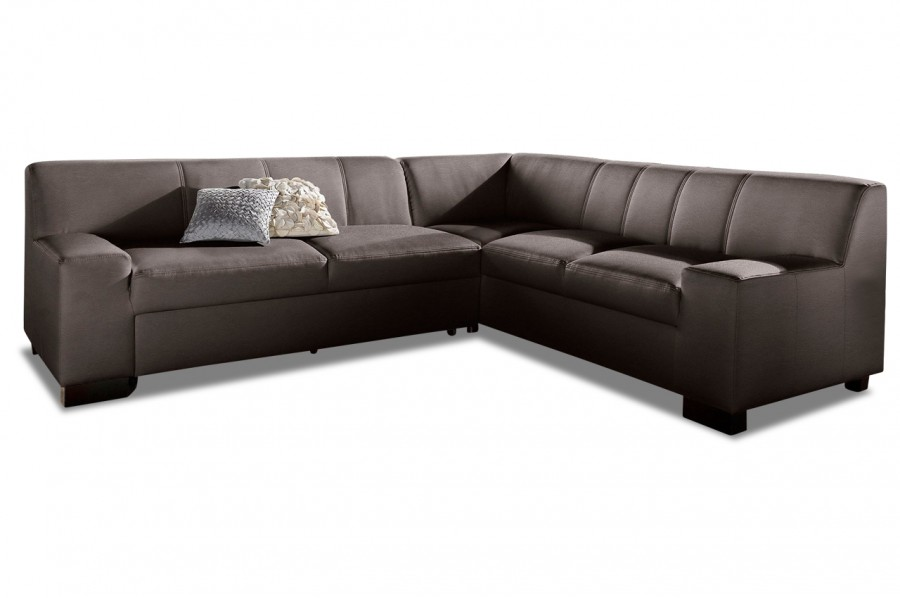 leder ecksofa xl norma mit schlaffunktion braun. Black Bedroom Furniture Sets. Home Design Ideas