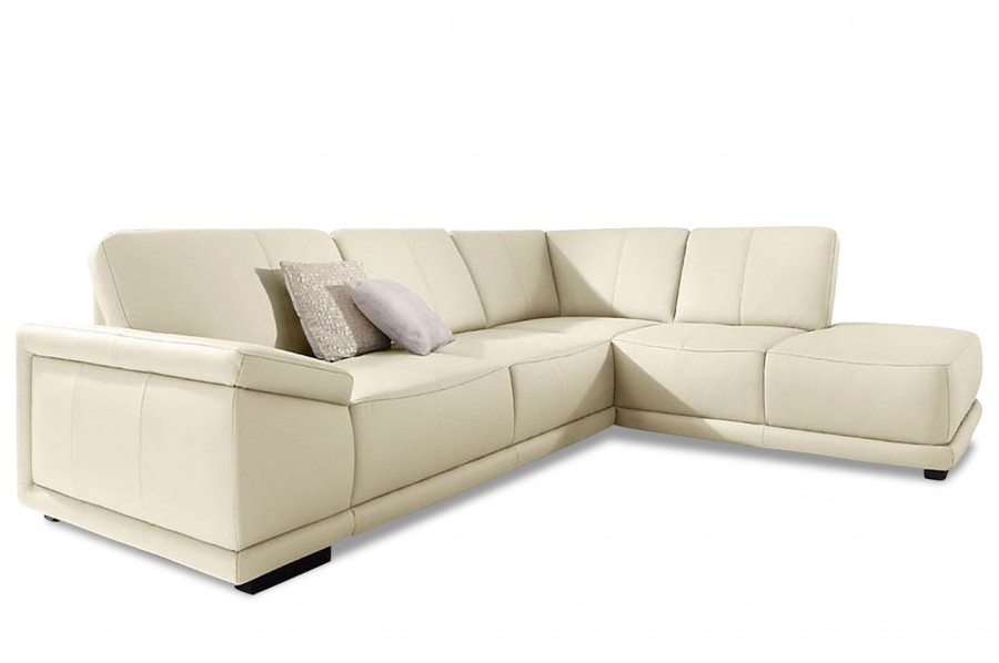 leder ecksofa xl calypso creme sofas zum halben preis. Black Bedroom Furniture Sets. Home Design Ideas