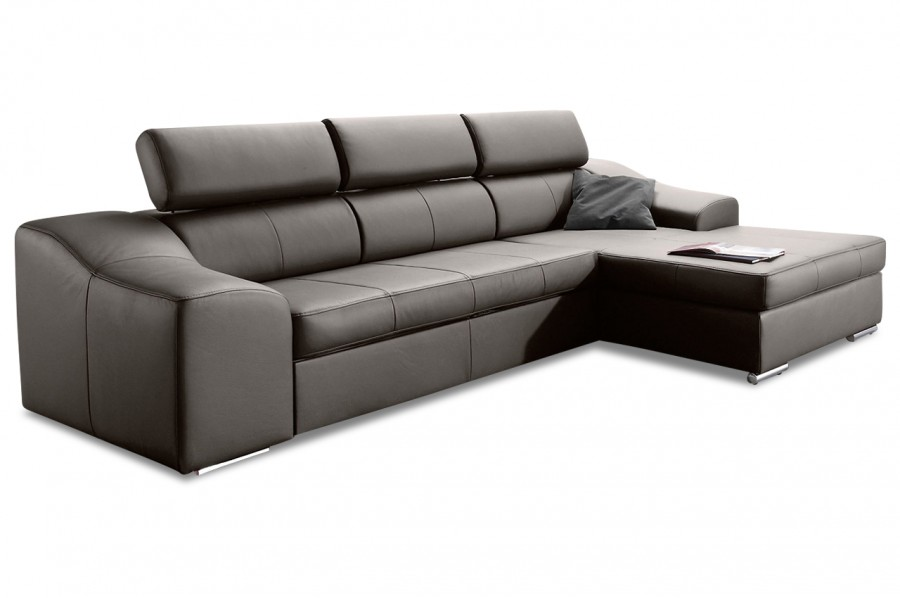 leder ecksofa skyfall mit schlaffunktion grau sofas. Black Bedroom Furniture Sets. Home Design Ideas