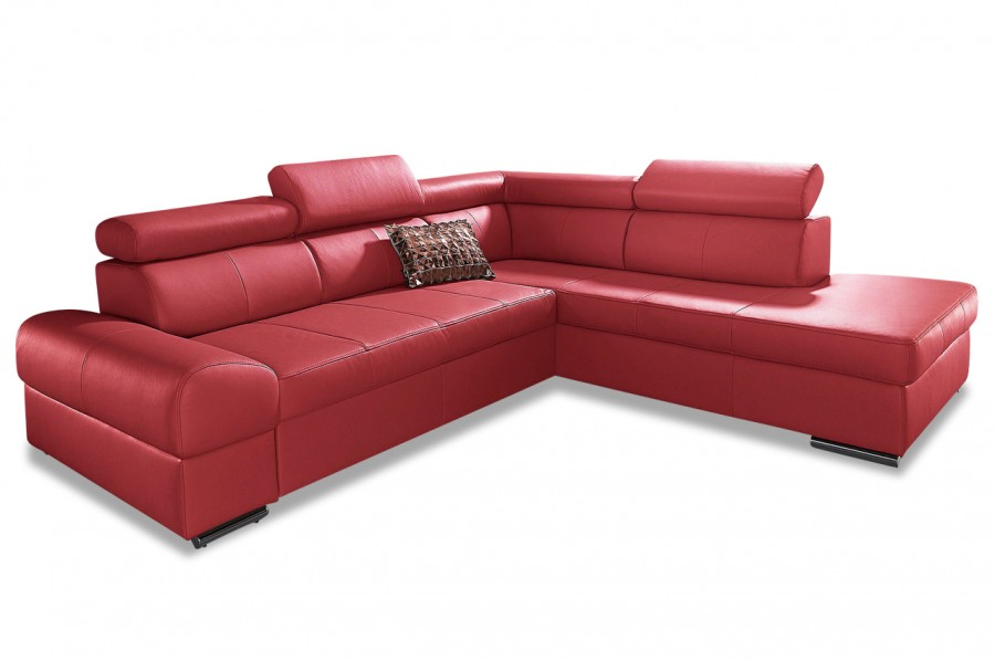 leder ecksofa xl broadway rot sofas zum halben preis. Black Bedroom Furniture Sets. Home Design Ideas