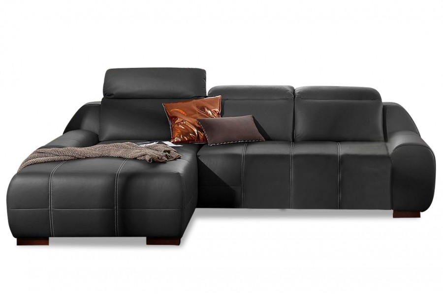 leder ecksofa mit schlaffunktion schwarz sofas zum. Black Bedroom Furniture Sets. Home Design Ideas