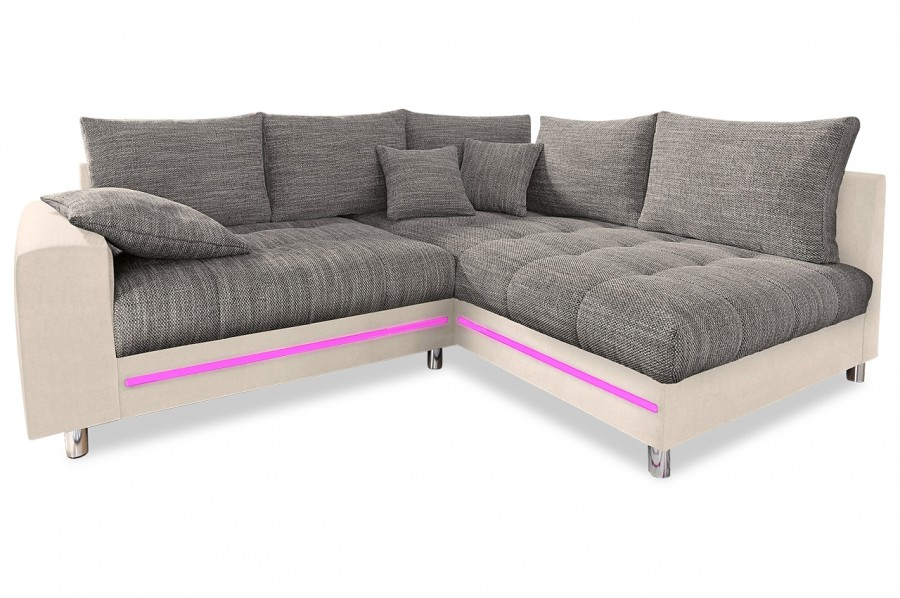 ecksofa xl tobi mit led creme sofas zum halben preis. Black Bedroom Furniture Sets. Home Design Ideas