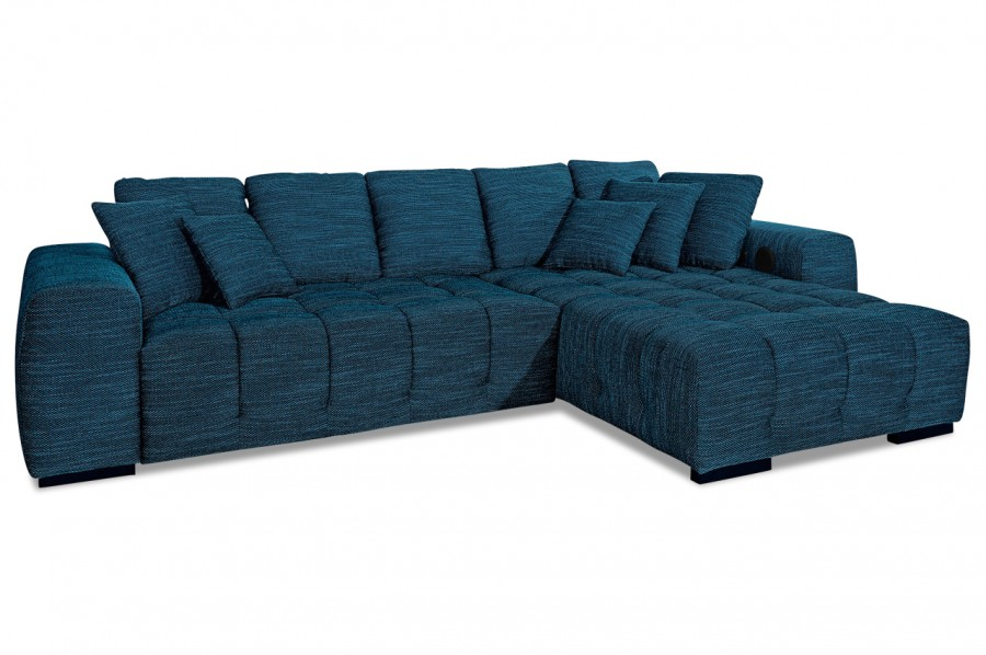 ecksofa atlantic mit motor blau sofas zum halben preis. Black Bedroom Furniture Sets. Home Design Ideas