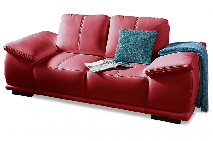 2er sofa calypso rot sofas zum halben preis. Black Bedroom Furniture Sets. Home Design Ideas