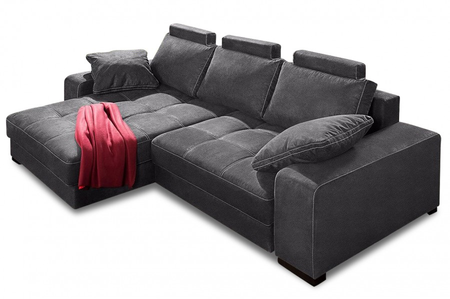 nova via ecksofa diabolo grau mit boxspring sofas zum. Black Bedroom Furniture Sets. Home Design Ideas
